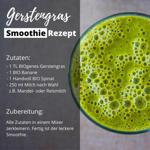 BIOgener Gerstengras Smoothie Shop