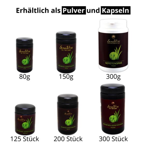 Produktvarianten Gerstengras